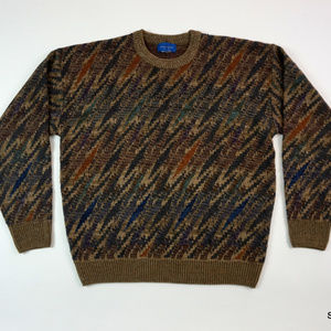 VTG Towncraft Multi Color Sweater Cosby Sz Medium